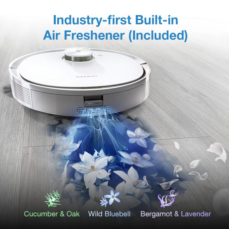Robot hút bụi lau nhà ECOVACS DEEBOT T9 Cao Cấp - Bản quốc tế - Có khả năng khử mùi - Điều khiển bằng ứng dụng - Phù hợp hệ sinh thái nhà thông minh- Hàng chính hãng bảo hành 18 tháng.