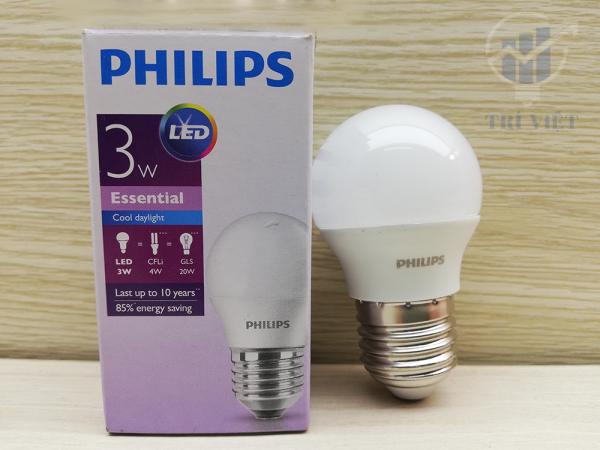 Combo 12 Bóng đèn led Philips 3W - Bóng Led Tiết Kiệm Điện