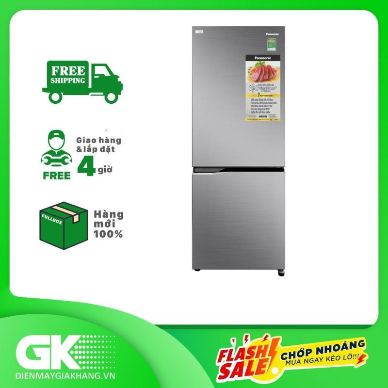 Tủ lạnh Panasonic Inverter 255 lít NR-BV280QSVN Mẫu 2019, tiết kiệm điện tối đa, vận hành êm ái, ổn định, trang bị cảm biến Econavi - Bảo hành 12 tháng