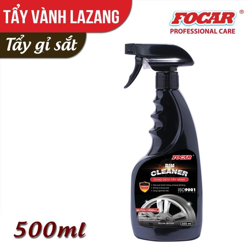 Dung dịch tẩy vành, tẩy lazang ô tô, tẩy vành mâm ô tô Focar Rim Cleaner 500ml - Tẩy vành tẩy gỉ sắt, tẩy ố vàng lazang, tẩy mâm ô tô, tẩy vành xe