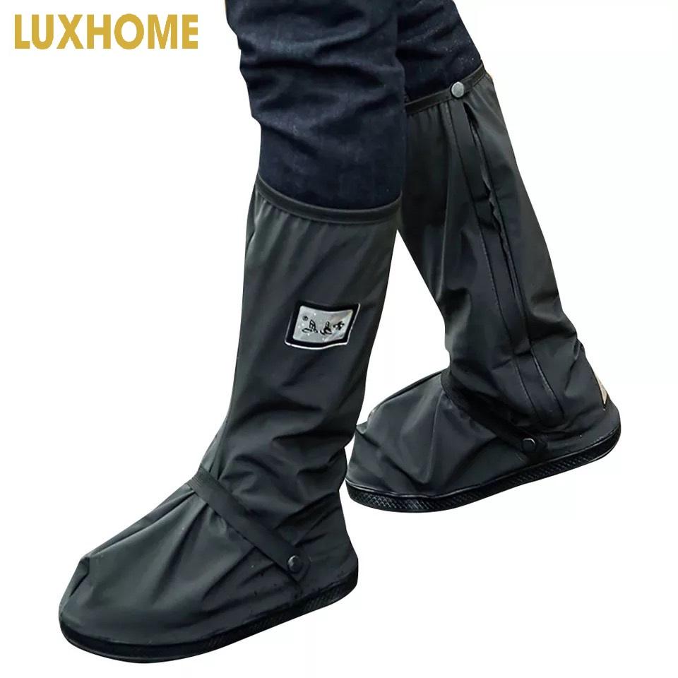 Ủng bọc giầy đi mưa nam/ nữ đế cao su chống trượt cao cấp M212 ( đế cao su dày, dây đai cổ chân )