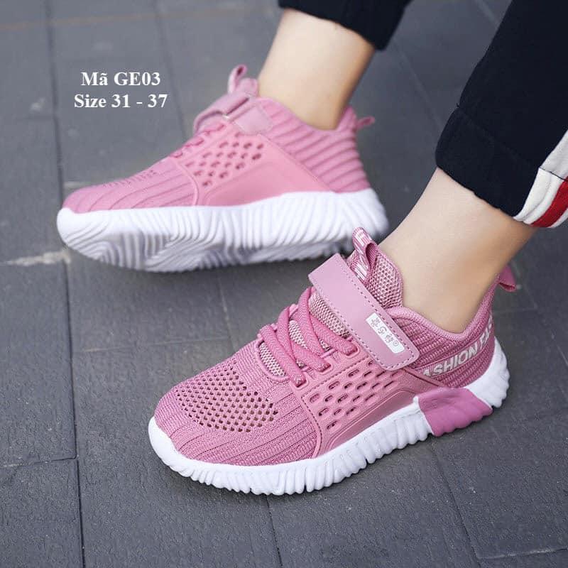 Giày thể thao bé gái sắc hồng xinh xinh êm mềm nhẹ hàng cao cấp