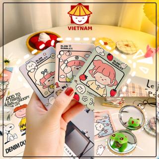 Gương Mini Cầm Tay 2 Mặt Bỏ Túi Xách Dễ Thương Cute - Siêu rẻ thumbnail
