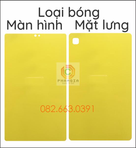 Dán PPF Samsung Tab A7 Lite loại nhám, bóng dành cho màn hình, mặt lưng, mặt lưng full viền