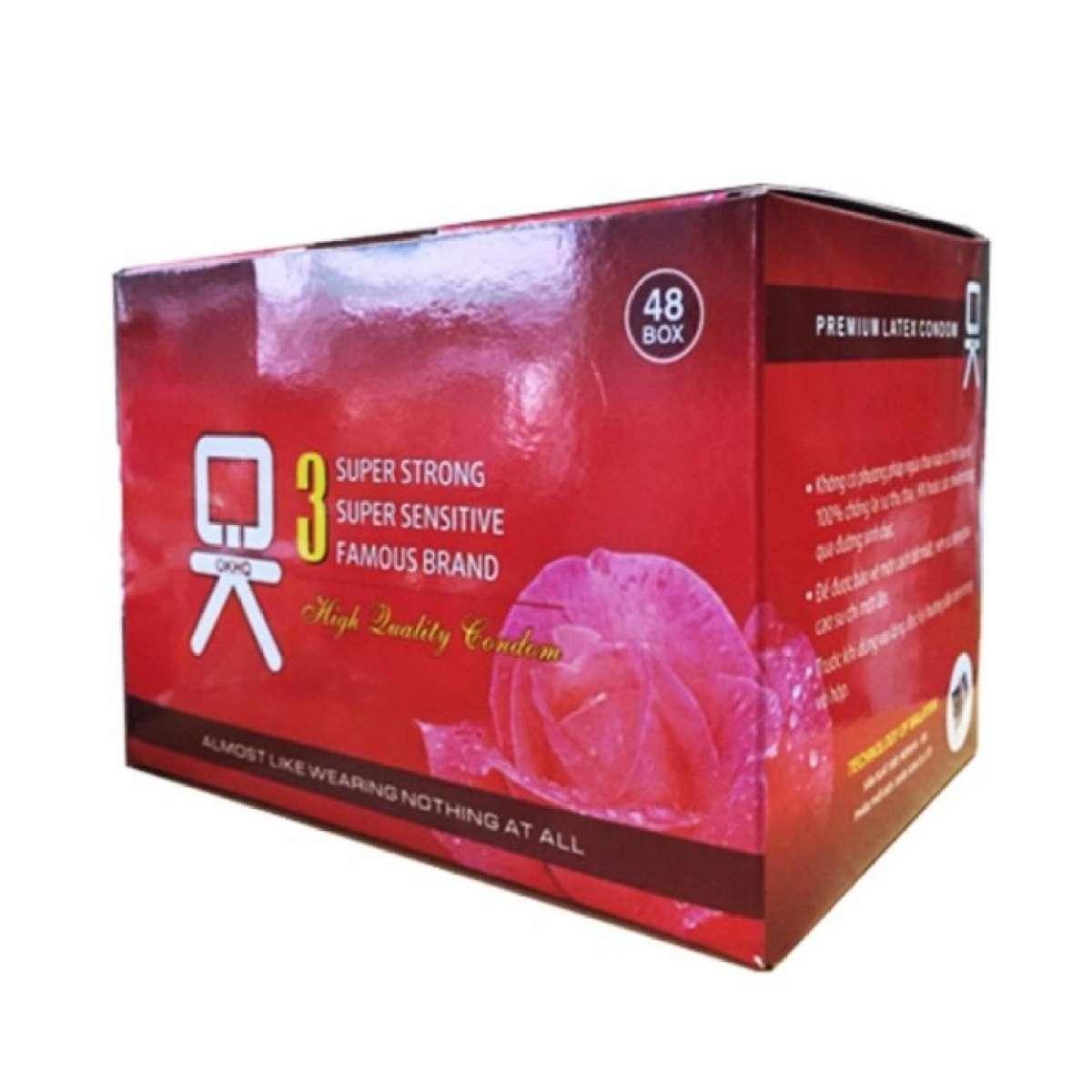 Bộ 1 hộp lớn Bao cao su OK không mùi (HQ144c) -- BAO CAO SU GIA ĐÌNH nhập khẩu