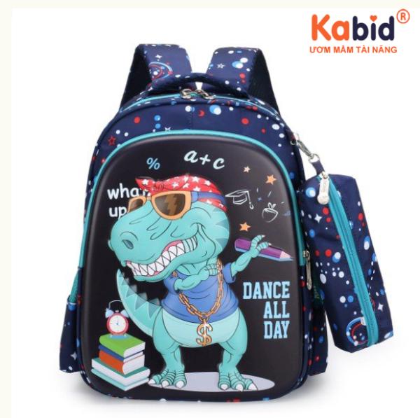Giá bán [Balo 3D có túi bút]Cặp học sinh tiểu học KABID, Balo cho bé từ 5-8 tuổi, họa tiết in 3D, chất liệu siêu chống thấm, bảo vệ cột sống + Kèm túi bút + Tặng cá heo viết chữ đẹp