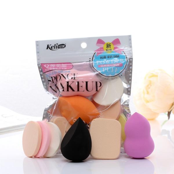 Set Bộ 6 Bông Mút Tán Phấn Trang Điểm Keli mềm mịn đáng yêu dễ dùng tiện lợi nội địa sỉ rẻ makeup brush powder puff
