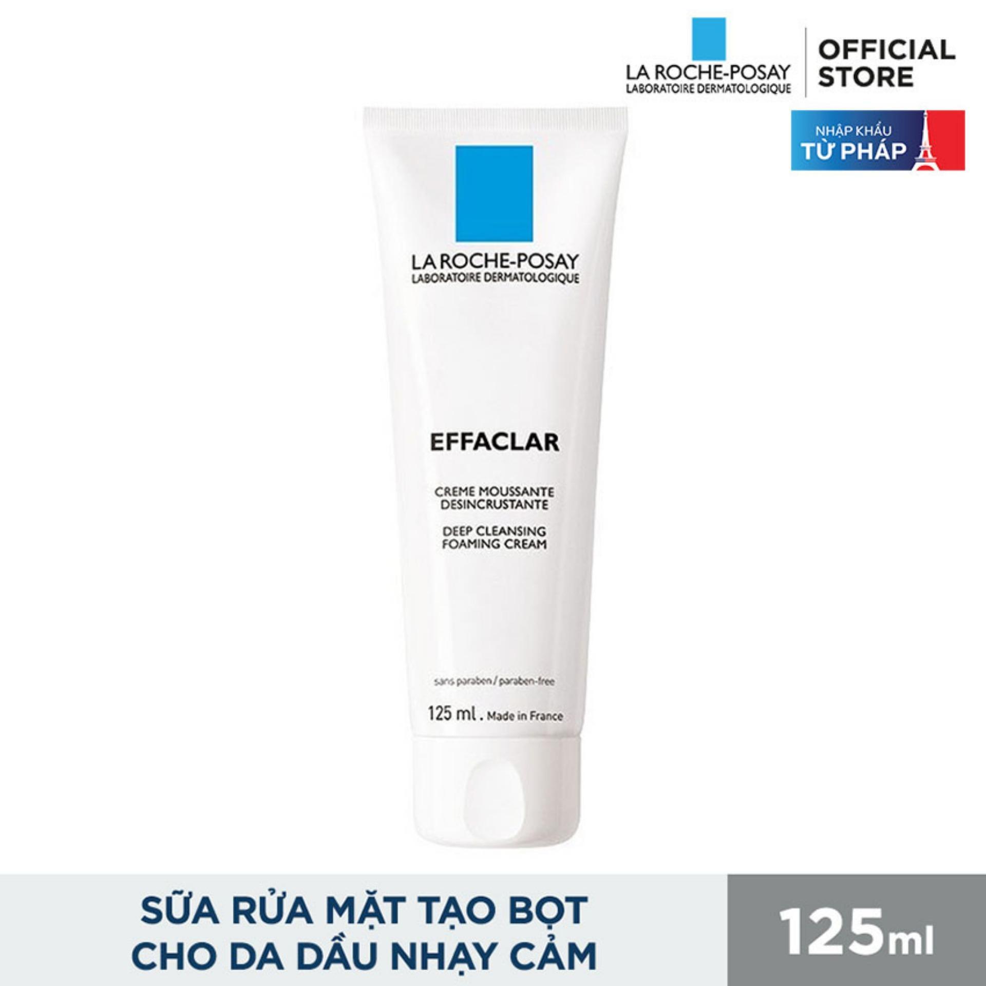 Sữa rửa mặt tạo bọt làm sạch giúp làm sạch sâu và se khít lỗ chân lông không gây khô da La Roche-Posay Effaclar 125ML chính hãng