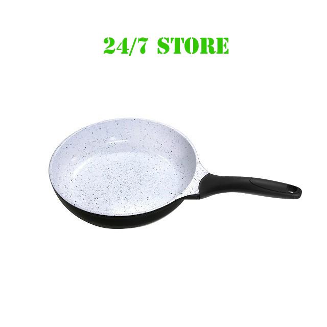 Chảo chống dính bếp từ men Ceramic của Đức, vân đá, Thương hiệu Rapido, men nhập khẩu từ Đức đáy chấm [Có 3 size lựa chọn: 20cm, 24cm, 28cm]
