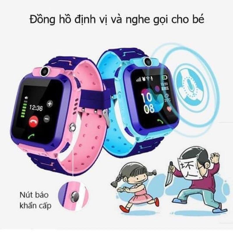 Đồng Hồ Định Vị Trẻ Em Q12 - Chụp Ảnh Từ Xa - Nghe Gọi 2 Chiều - Hỗ Trợ Sim 3G bán chạy