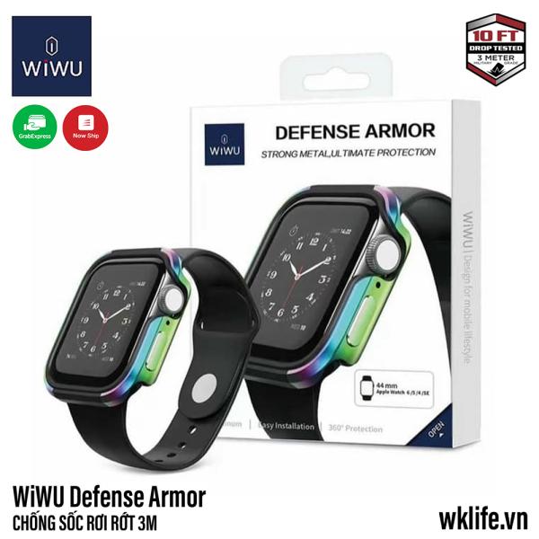 Ốp Viền Apple Watch WiWU Defense Armor Viền Nhôm Size 44mm