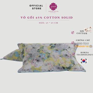 Vỏ gối nằm 3 lớp cotton 65% GRAND, chần bông thấm hút, bền mầu, áo gối nằm Hàn quốc 45 65 cm (hoa nhỏ xanh) thumbnail