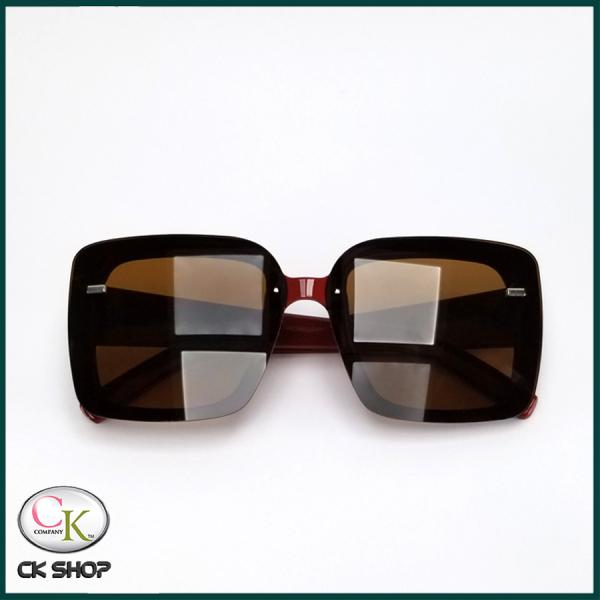 Giá bán (VIDEO thực tế test tia UV) Mắt kính mát nữ  - 2 màu Đen và Đỏ - Bảo hành 12 tháng