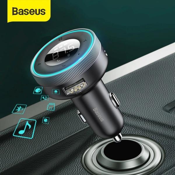 Tẩu nghe nhạc MP3 Baseus, bluetooth V5.0, hỗ trợ đọc thẻ TF, cổng USB, AUX audio,... - phân phối chính hãng tại Baseus Việt Nam