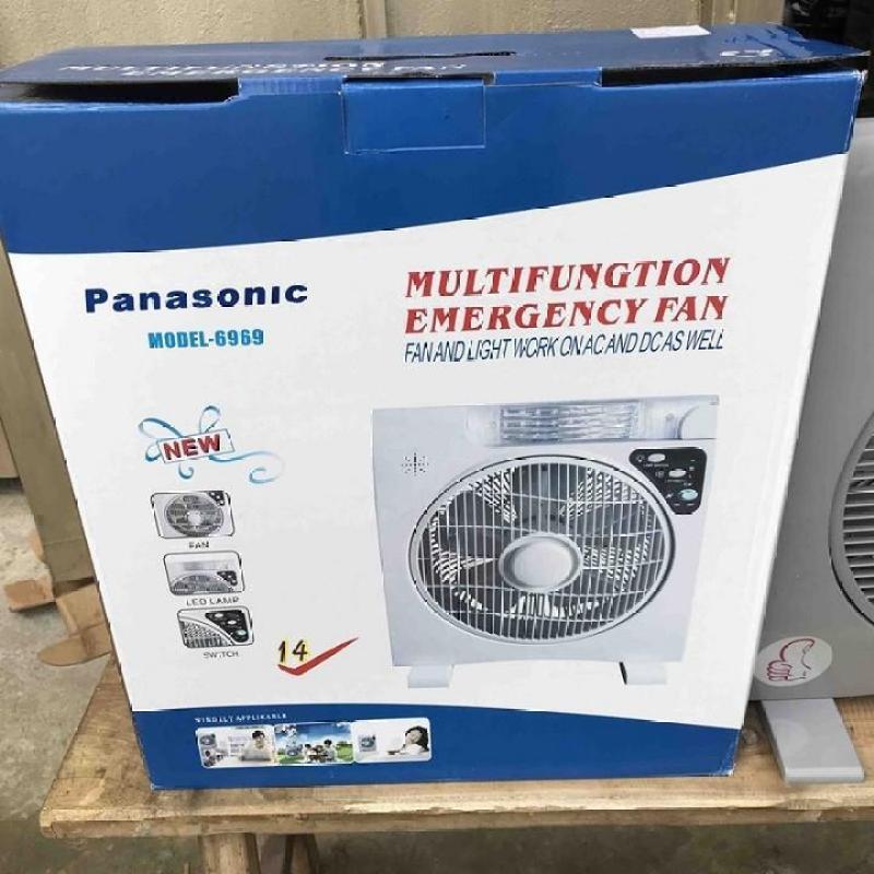 Quạt tích điện Panasonic 6969 siêu bền, đẹp, , quạt điện, quạt sạc điện uy tín, đa năng