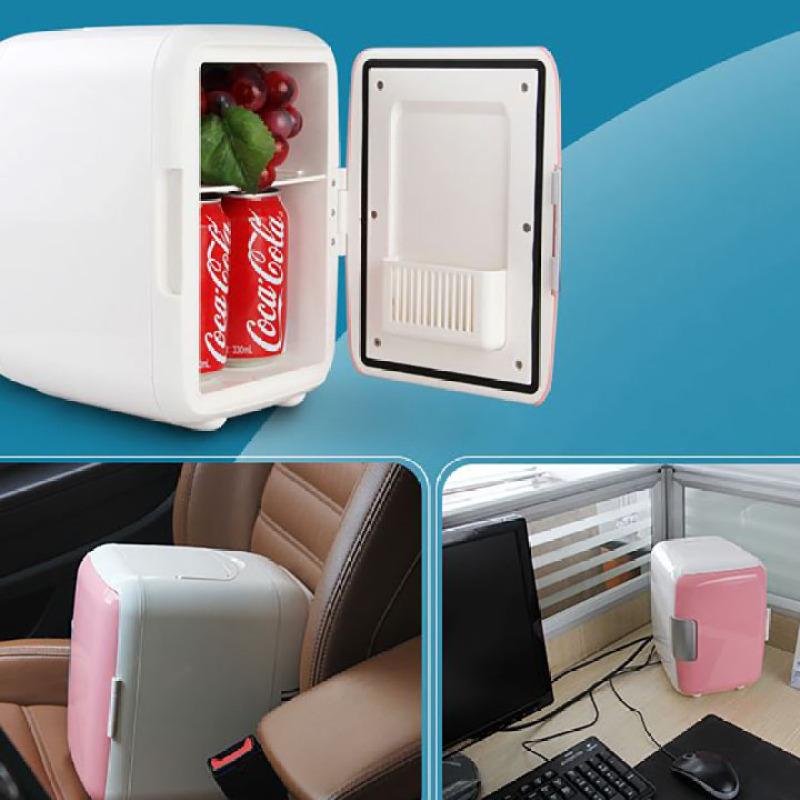 Tủ lạnh Mini Tủ lạnh, tủ mát mini 12V dùng trên oto và gia đình (4Lít, hai chiều nóng lạnh) - đựng mỹ phẩm, sữa cho bé, đồ dùng, thực phẩm