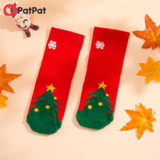 Tất Giáng Sinh PatPat Cho Trẻ Mới Biết Đi/Trẻ Em Vớ Co Giãn Dễ Thương Và Bền Cho 3-11 Tuổi-z