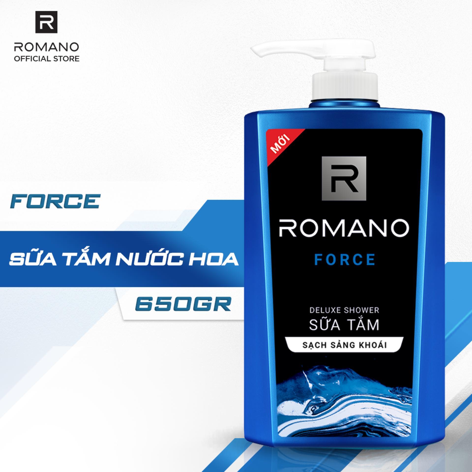 Chương Trình Ưu Đãi cho Sữa Tắm Romano Force Mạnh Mẽ Tự Tin Sảng Khoái 650g