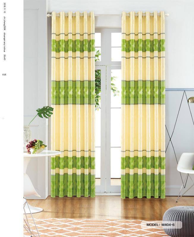 Màn Rèm Cửa Chính - Rèm Cửa Sổ - Tuỳ chọn kích thước từ 150cm đến 500cm - Vải Gấm HQ - Vải dày rủ đẹp - Kiểu Khoen Ore - Mẫu 404-6