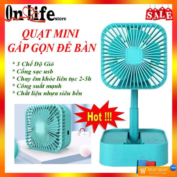 Quạt mini- Quạt Nhỏ sạc điện usb- Quạt hộp vuông gấp gọn cầm tay- Quạt gió mini tích điện, thông gió- Quạt mini để bàn tích điện thông minh- Quạt nhỏ gọn usb giá rẻ