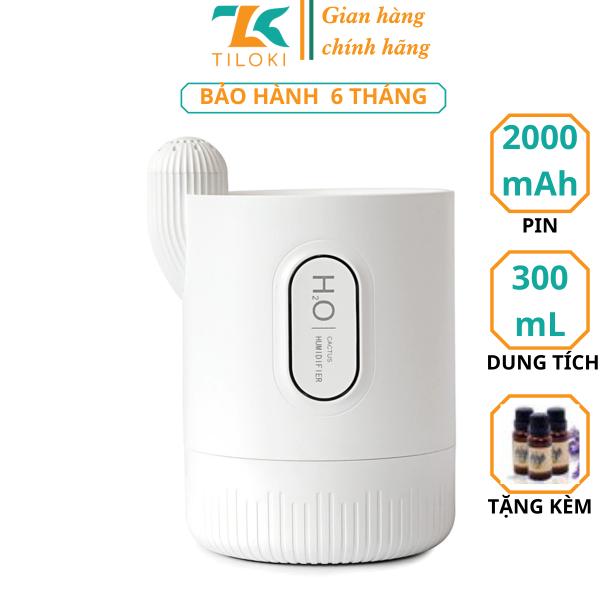 Máy tạo độ ẩm tích điện dung lượng 2000mAh TPG01 dung tích 330ml - máy khuyếch tán tinh dầu đa năng di động hình cây xương rồng BH 12 THÁNG