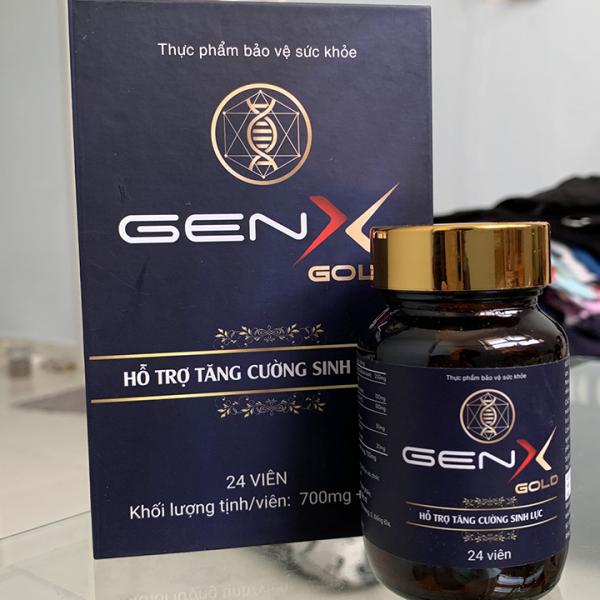 Gen X Gold - Hỗ trợ sức khoẻ nam giới - Chống xuất tinh sớm - trị yếu sinh lý - Hộp 24 viên