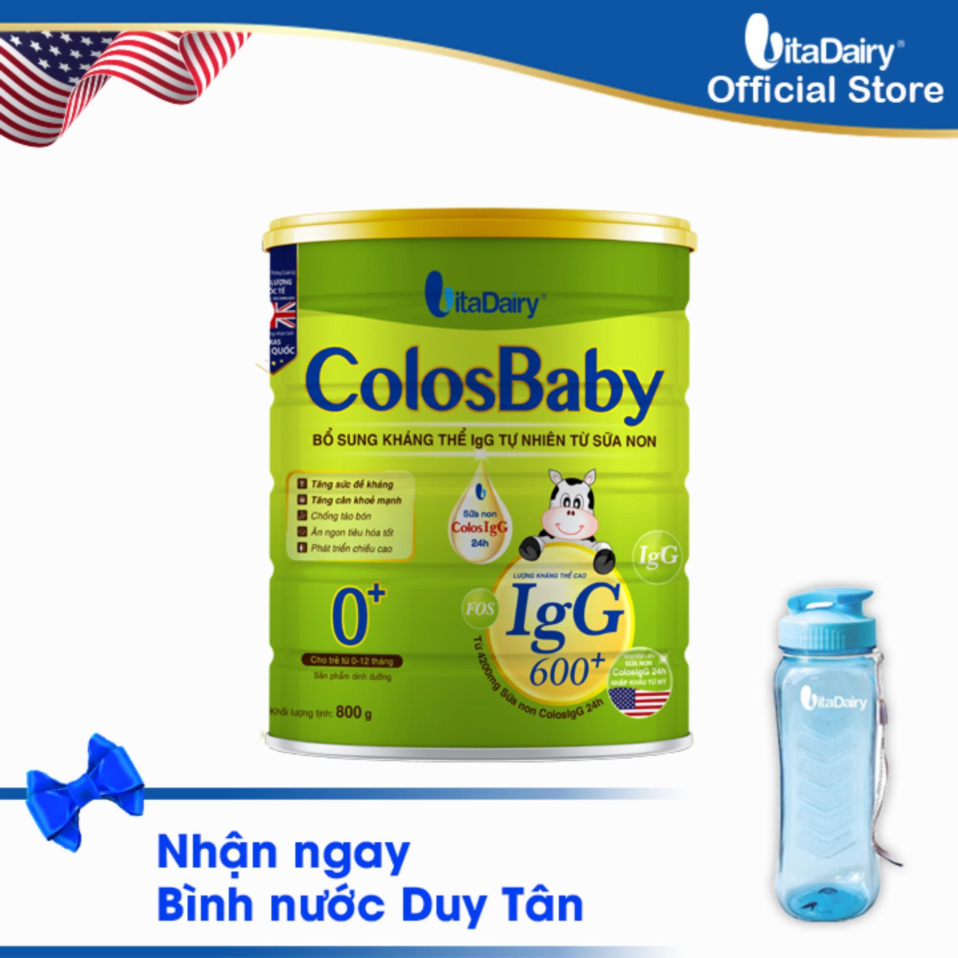 Sữa non COLOSBABY 600 IgG 0+ 800G