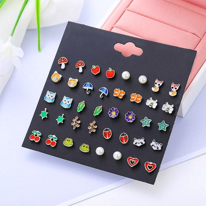 Giá bán Set 20 đôi hoa tai kiểu dáng dễ thương lung linh cho bé gái BBShine – J015