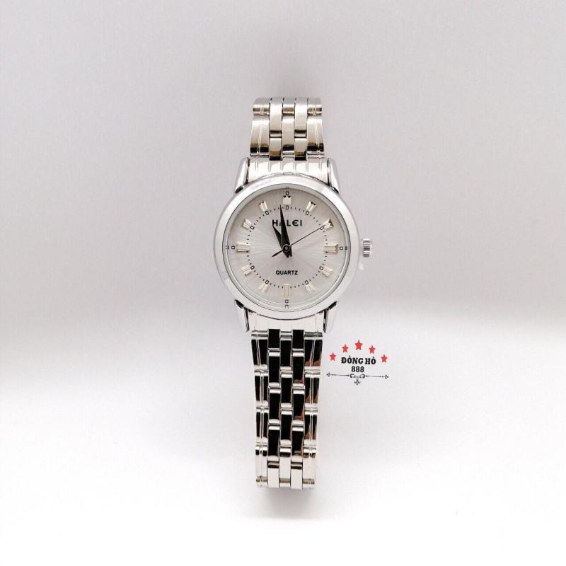 Đồng hồ nữ HALEI dây kim loại thời thượng ( HL502 dây trắng mặt trắng ) - Kính Chống Xước, Chống Nước Tuyệt Đối, Mạ PVD Cao Cấp Chống Gỉ Chống Phai Màu Thời Trang Hottrend 2020
