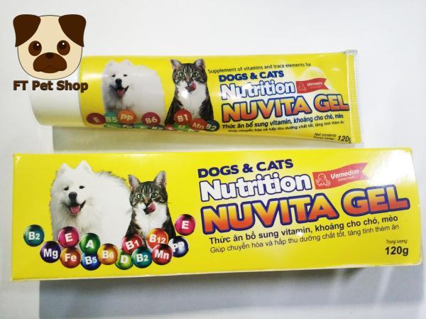 Gel dinh dưỡng cho chó mèo Nuvita Gel 120gam