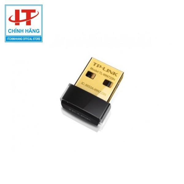 Bảng giá USB thu Wifi TP-Link TL-WN725N, dùng để kết nối wifi cho laptop, máy tính để bàn, bảo hành 2 năm Phong Vũ