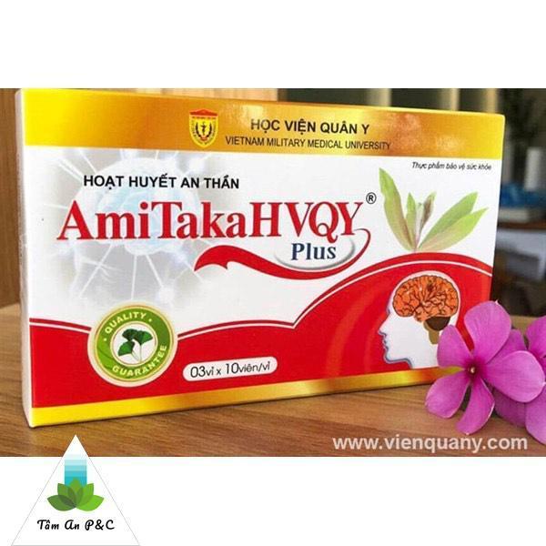( Ngủ ngon, tăng cường sức khỏe trí não ) Hoạt huyết an thần Amitaka Plus nhập khẩu