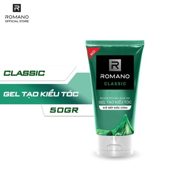 Combo 2 Gel vuốt tóc Romano Classic giữ nếp lâu và giữ nếp siêu cứng 150g/chai giá rẻ