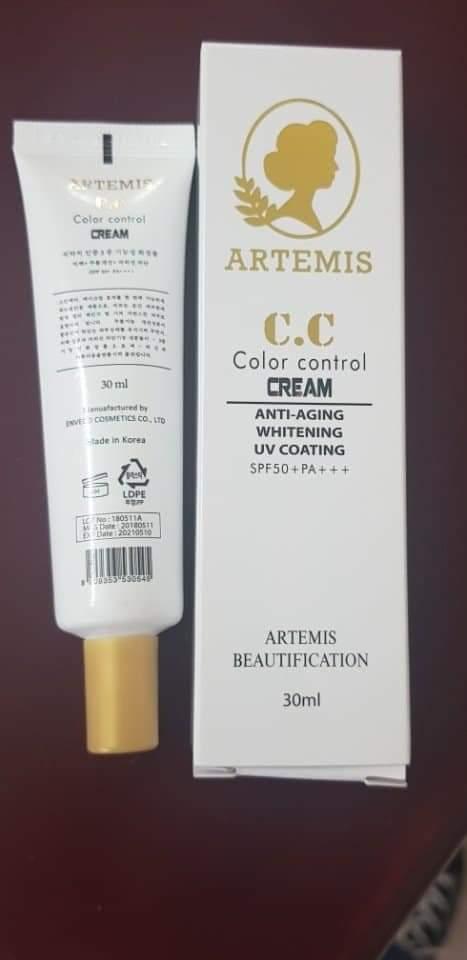 [Kem Chống nắng] C.C CREAM ARTEMIS SPF50 + PA +++ nhập khẩu