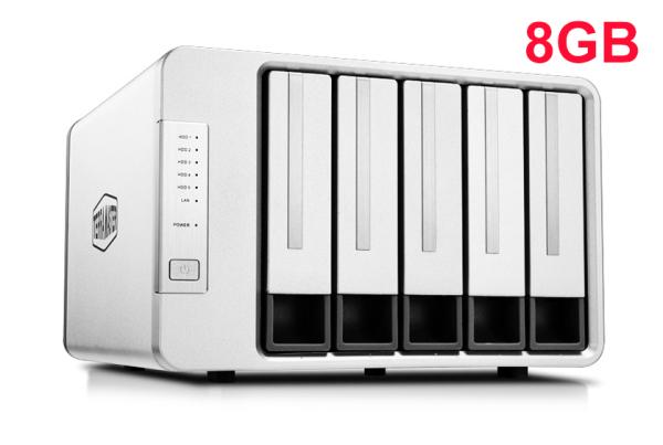 Bảng giá NAS TerraMaster F5-421, Intel Quad-core 1.5GHz, 8GB RAM, 410MB/s, AES NI, RAID 0, 1, 5, 6, 10 Phong Vũ