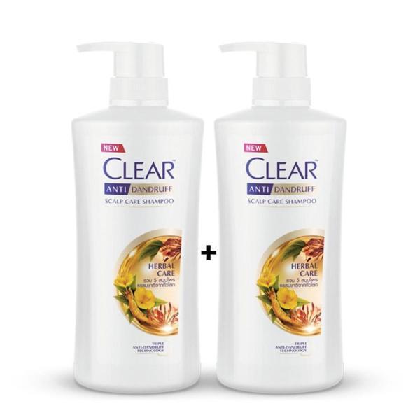 Combo 2 chai dầu gội Clear Thảo Dược nhập khẩu Thái Lan - 450ml/chai