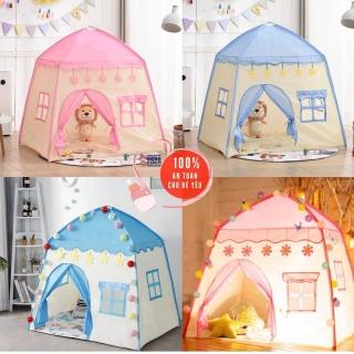 NEW Lều cho bé lều công chúa hoàng tử cắm trại gồm 2 màu xanh hồng loại CAO CẤP (mẫu mới 2021) thumbnail