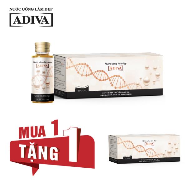 MUA 1 TẶNG 1- 1 Hộp Collagen ADIVA (14 chai x 30ml) Tặng 1 Hộp Collagen ADIVA (14 chai x 30ml)