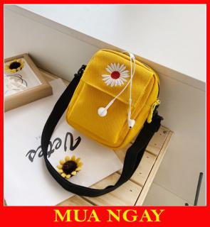 Túi Đeo Chéo Nữ Tote, Túi Vải Đựng Điện Thoại Hoa Cúc TX38 thumbnail