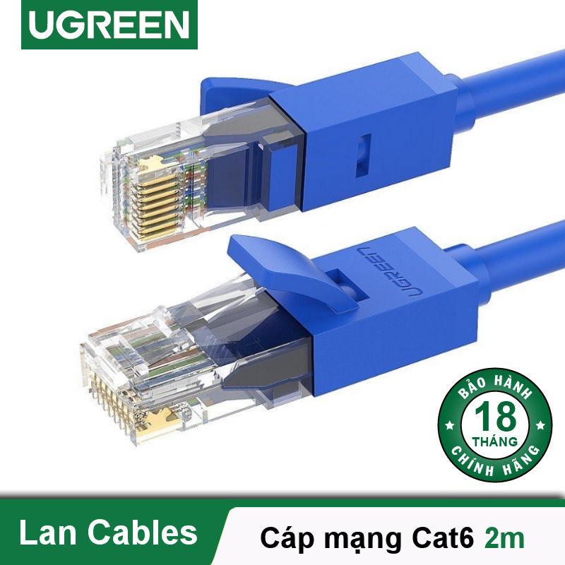 Bảng giá Dây mạng bấm sẵn 2 đầu Cat6 UTP Patch Cords dài 2M UGREEN NW102 11202 - Hãng phân phối chính thức Phong Vũ