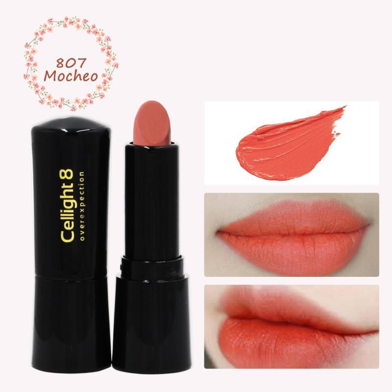 Son môi mini thiên nhiên không chì Cellight 8 Eco Lipstick - 807 - Mocheo - Cà Rốt - (2g) giá rẻ