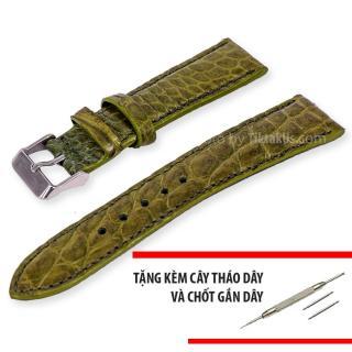 Dây đồng hồ nam da cá sấu thật size 22mm - Tiktakus thumbnail
