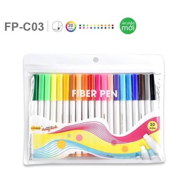 Mua Bộ 20 BÚT LÔNG MÀU Fiber Pen Colokit FP-C03, Bút Viết Calligraphy, Hán Tự, Thư Pháp - TL