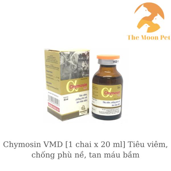 Chymosin VMD [1 chai x 20 ml] Tiêu viêm, chống phù nề, tan máu bầm trên chó, heo, trâu, bò, ngựa