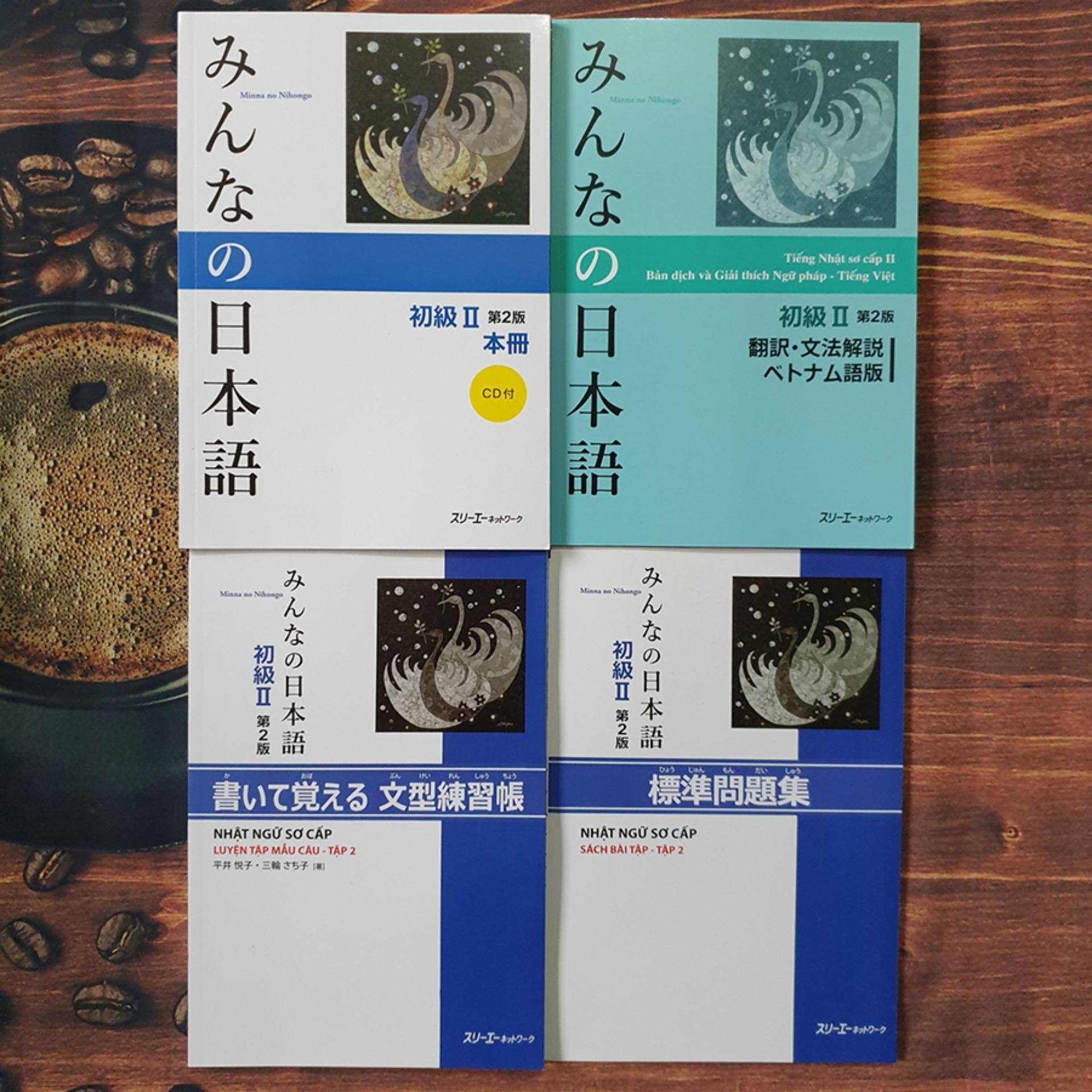 Mua Sách - Combo Minna No Nihongo Sơ Cấp II Trình Độ N4 ( Giáo Khoa, Giải Thích, Bài Tập, Luyện Mẫu Câu) - Phiên Bản Mới