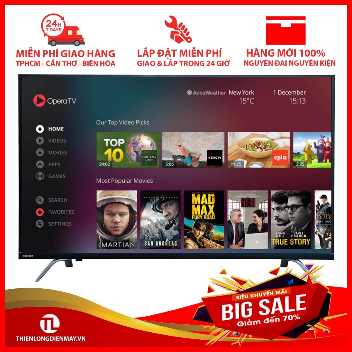 Bảng giá Smart Tivi Toshiba 4K 49 inch 49U7650