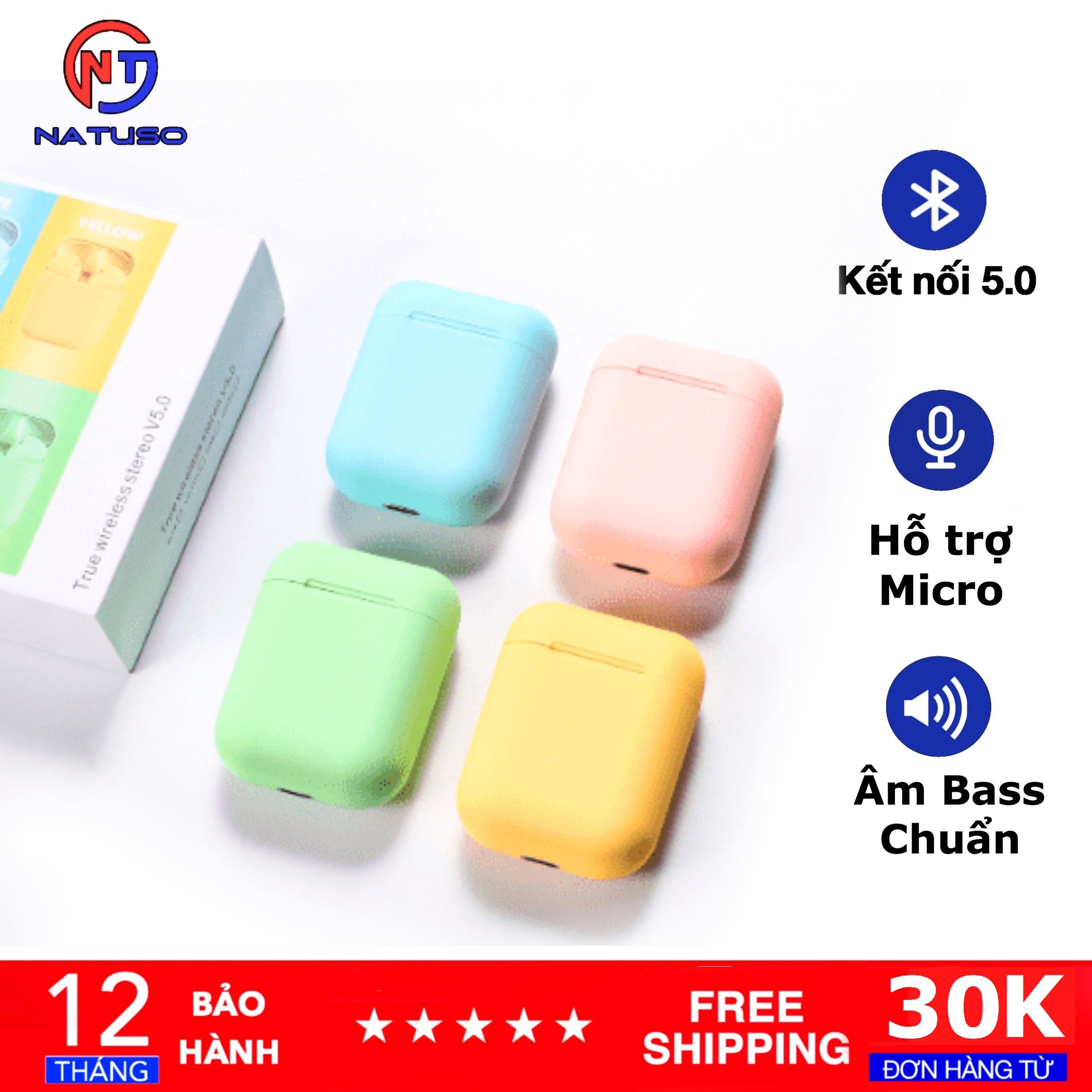 Tai Nghe Bluetooth Nhét Tai INPODS I12 Tws 5.0 Không Dây, Nút Cảm Ứng Bluetooth, Nhiều Màu Sắc Thời Thượng