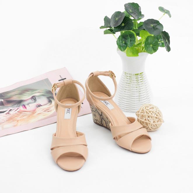Giày Đế Xuồng Pixie 7cm Da Răn Bít Mũi Pixie X455 giá rẻ