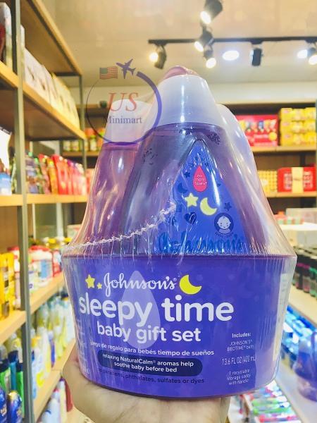 Bộ quà tặng cho bé Johnsons  Sleepy Time 400ml - US MiniMart cao cấp