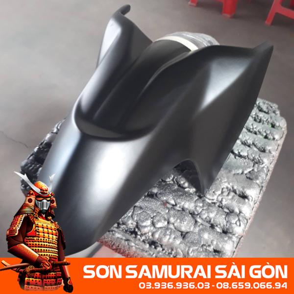 Combo sơn SAMURAI 109A ĐEN NHÁM/MỜ chính hãng - Sơn phun xe máy SAMURAI SÀI GÒN